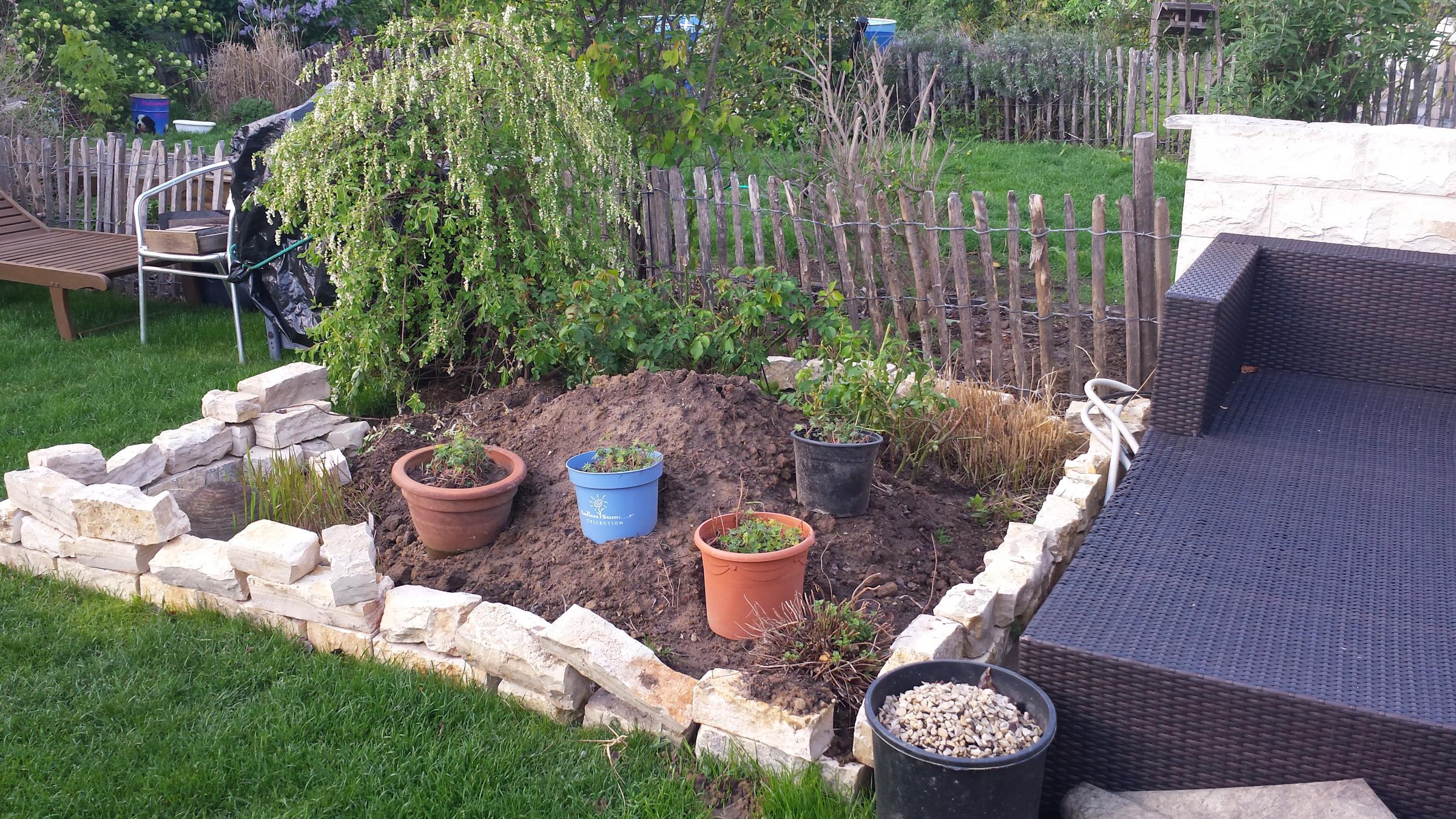 Kleines Beet mit Miniteich und Steinen - Hilfe benötigt - Garten ...