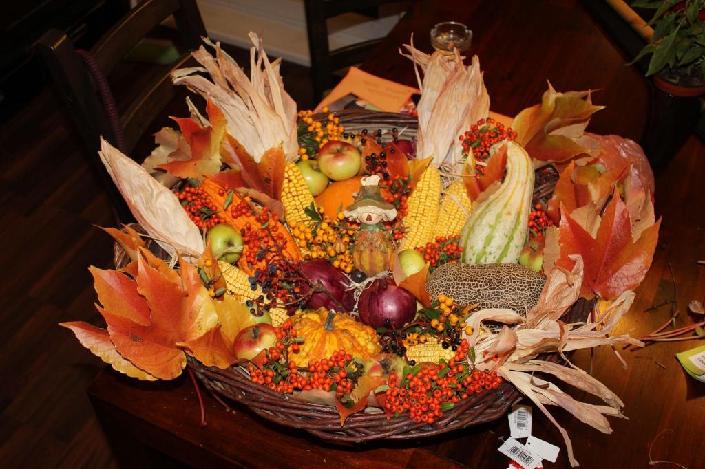 Herbstkorb  Gartenbilder